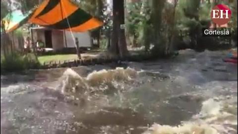 Turistas sufren turbulencia del agua tras terremoto en México