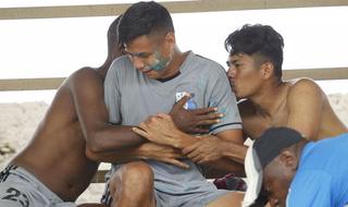 Las locuras de los jugadores de Honduras Progreso en el entrenamiento