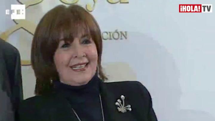 Concha Velasco, feliz con su Goya de Honor: \'En el cine me ha besado lo mejorcito de este país\'