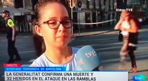 Hondureña reporta sobre el atentado en Barcelona