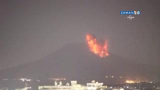 Japonya'da nükleer santralin yakınındaki yanardağ patladı