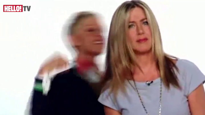 Ellen DeGeneres helps Jennifer Aniston get ready