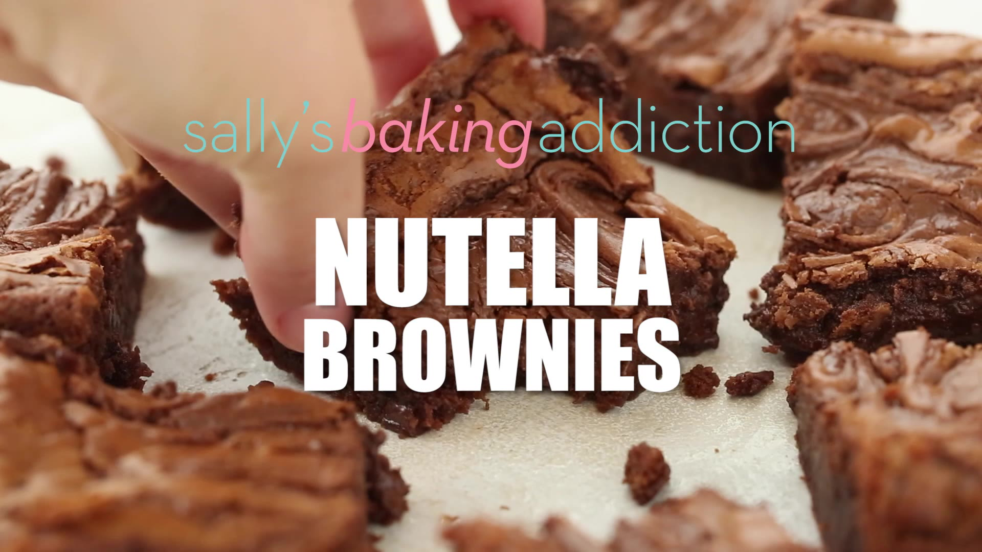 Nutella Topped Brownies Nutella Brownies Sallys Baking Addiction
