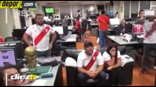 Momento de drama y locura: redacción peruana estalló con su clasificación al Mundial