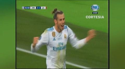 Terecer gol de Real Madrid anotado por Gareth Bale