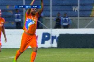 Junior Padilla anota el 1 - 0 de la UPN ante Honduras Progreso