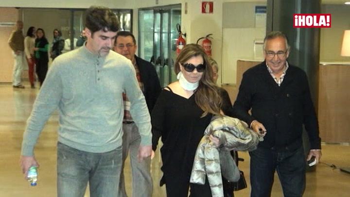 María José Campanario, ingresada de nuevo por su hernia discal
