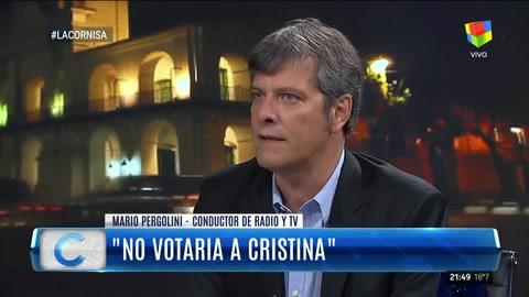 Mario Pergolini aseguró que no votaría a Cristina en las Paso