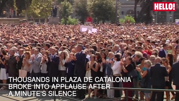 Silence held in Barcelona to honour terror attack victims