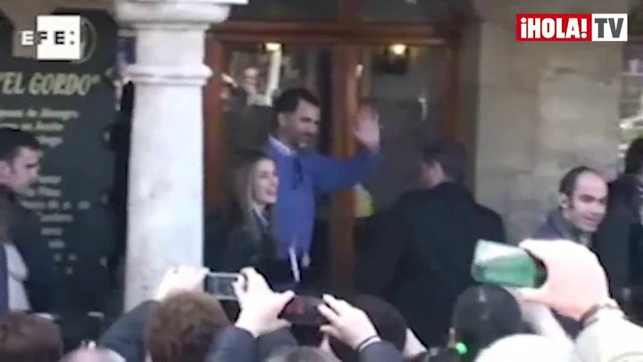 Los Príncipes de Asturias visitan Almagro junto a sus hijas