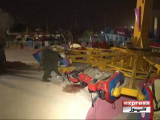 کراچی عسکری پارک میں جھولا گرنے سے بچی جاں بحق