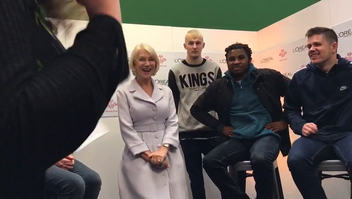Dame Helen Mirren teaches us how to power pose for her self-confidence campaign