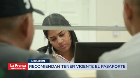 RECOMIENDAN TENER VIGENTE EL PASAPORTE