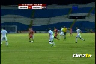 ¡GOOOL DE SANTOS DE GUÁPILES! Al minuto 62 Wilmer Azofeifa abre el marcador y sorprende al Olimpia.