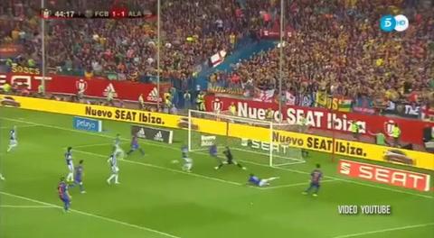 El gol de Neymar contra el Alavés