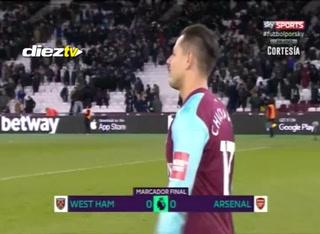 Arsenal no pasa del empate ante el West Ham y se aleja de los primeros puestos de la Premier League