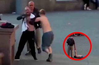 VIDEO: Se la agarró con un hincha y luego lo noquearon