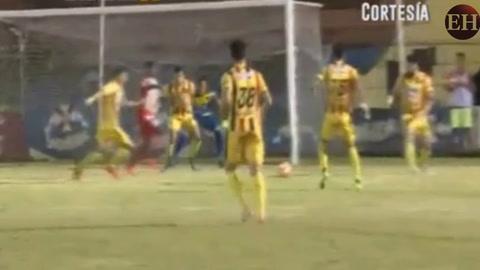 Vida abre el marcador ante Real España 1-0