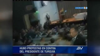 Erdoğan'a Ekvador meclisinde protesto şoku