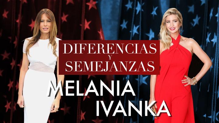 En vídeo: Ivanka y Melania, ¿en qué se parecen las damas Trump?
