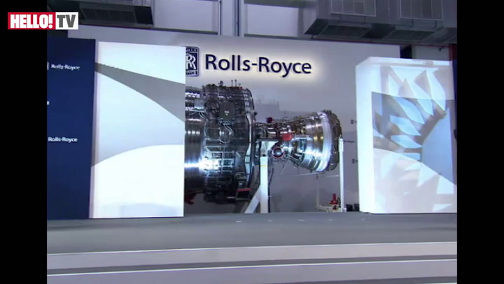 Kate unveils new Rolls Royce Trent Engine
