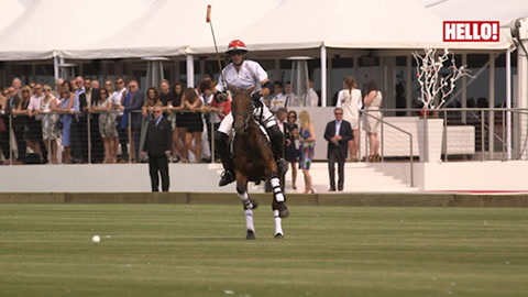 Prince William leads his team to victory at the first ever Audi Polo Challenge in Cambridge