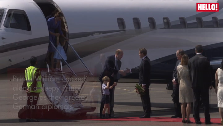 Watch Princess Charlotte Complete Her First Official Handshake As The Cambridges Arrive In Germany