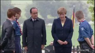 Hollande y Merkel defienden el proyecto europeo