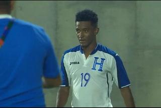 Douglas Martínez anota el 1 - 0 de Honduras ante Colombia