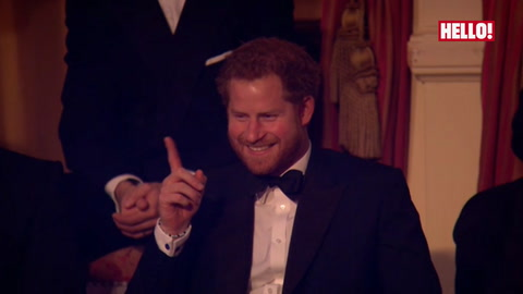 Prince Harry laughs as Jack Whitehall calls him \'King of Banter\' at Royal Variety Performance