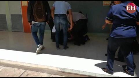 Encapuchados lanzan gas lacrimógeno en la facultad derecho de la Unah