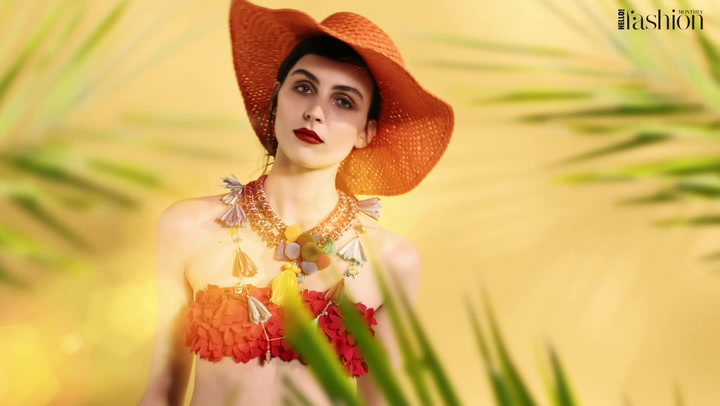 Tropical looks for #HFM\'s July issue