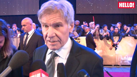 Harrison Ford joins Star Wars\' new heroes Daisy Ridley and John Boyega at the London premiere
