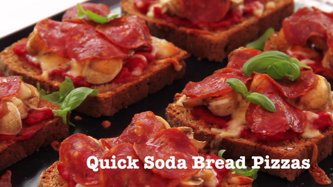 Video: Brown soda bread pizza recipe