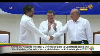 Colombia y FARC firman el acuerdo final para la paz