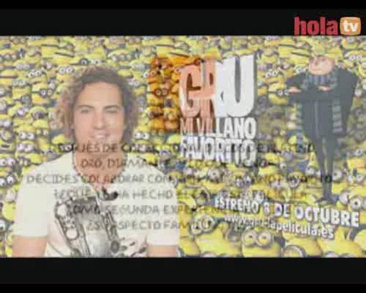 David Bisbal, estrella musical de la película 'Gru, mi villano favorito', nos envía un saludo a todos los fans de hola.com