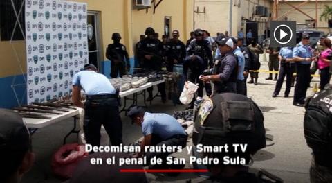 Decomisan rauters y Smart TV en el penal de San Pedro Sula