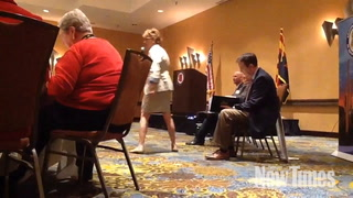 Congressional Candidate Wendy Rogers Confronts Fellow Republican Paul Babeu