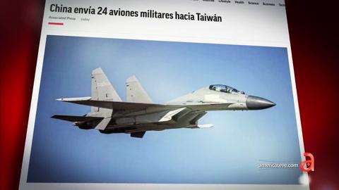 China envía 24 aviones militares hacia Taiwan