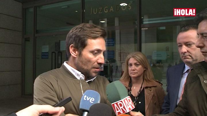 Antonio David Flores comparece en el juzgado para declarar por la demanda interpuesta por su exmujer Rocío Carrasco