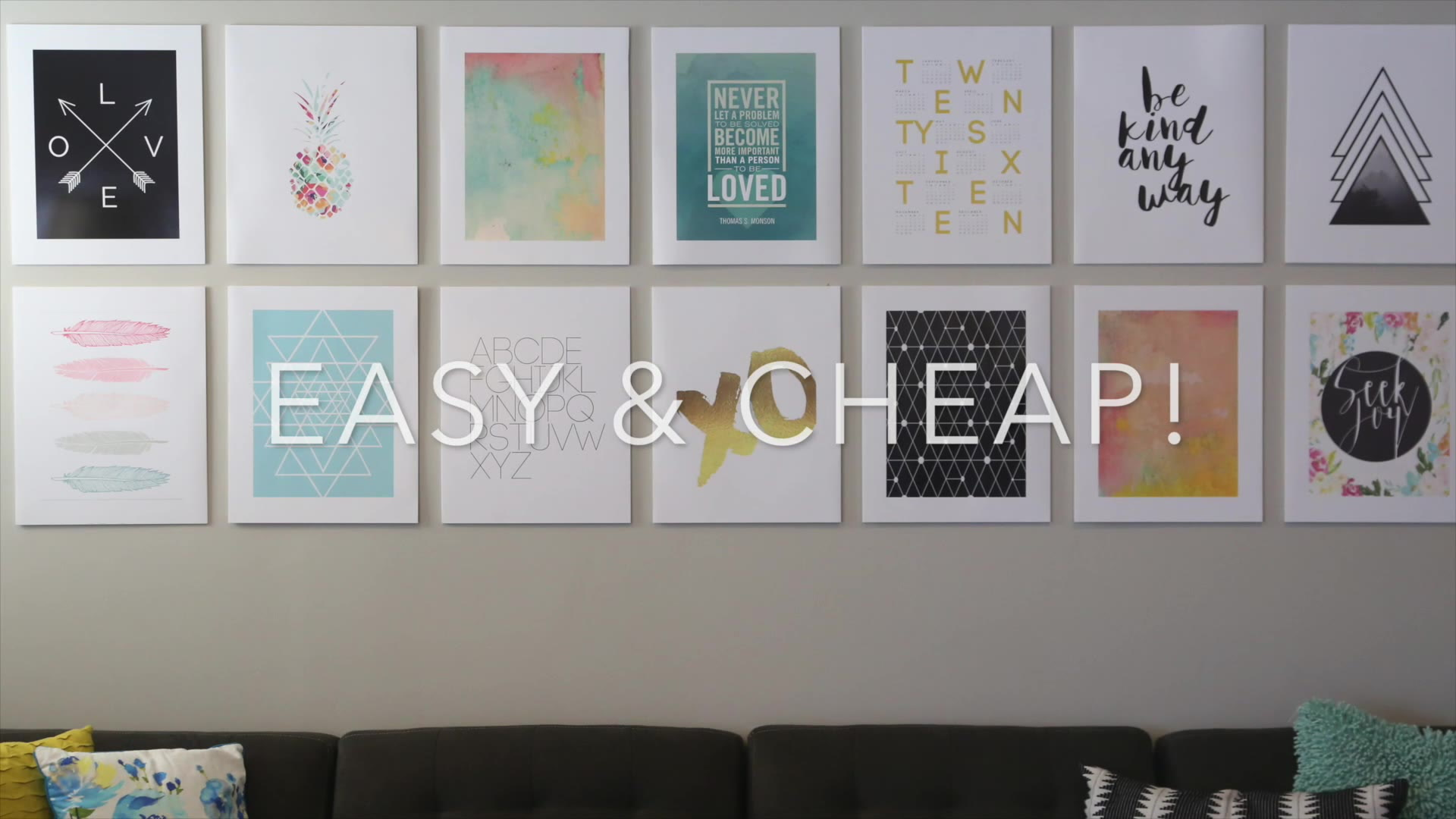 DIY photo mounting for a cheap + easy gallery wall - It\'s Always Autumn