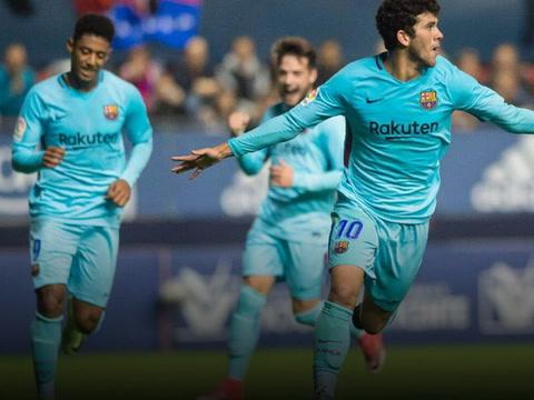 Barcelona B empata con el Osasuna, Choco Lozano jugó el partido