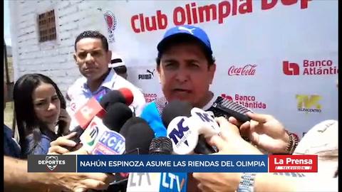Nahún Espinoza madruga y asume las riendas del Olimpia