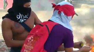Fuerte enfrentamiento entre civiles y militares en Choluteca