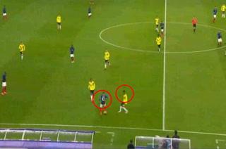La jugadota con la que Mbappé dejó en el suelo a defensor colombiano