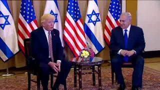 Desde Jerusalén, Trump insta a la paz a israelíes y palestinos