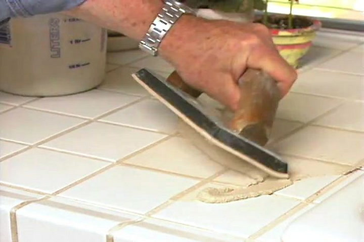 How To Replace Tile Grout In A Kitchen Countertop U2022 DIY Projects U0026 Videos
