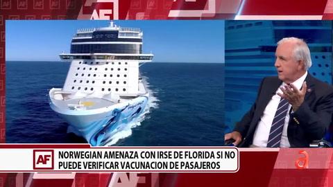 Norwegian amenaza con irse de Florida si no puede verificar vacunación de pasajeros