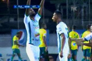 Brunet Hay Pino anota el empate 1 - 1 de Platense ante Juticalpa