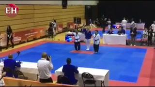 Hondureño con sindrome de Down campeón mundial en Taekwondo